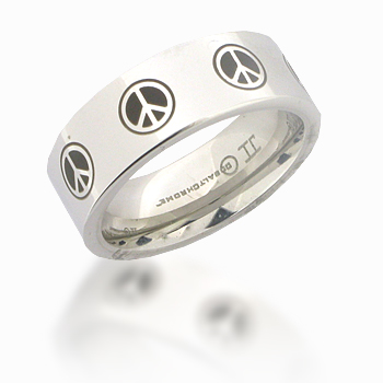 Cobalt Chrome 8mm Pipe Cut Peace Ring
