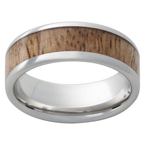 Cobalt Chrome Ring 8mm with Mango Wood Inlay