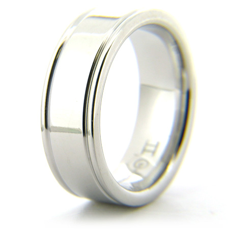 Cobalt Chrome 8mm Ring with Rounded Flat Edges