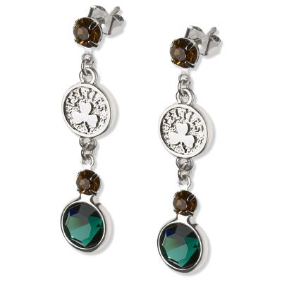 Boston Celtics Crystal Logo Earrings