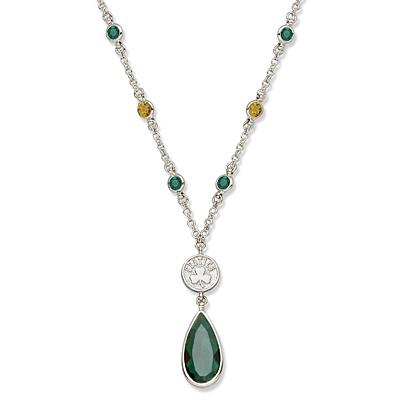 Boston Celtics Crystal Logo Necklace