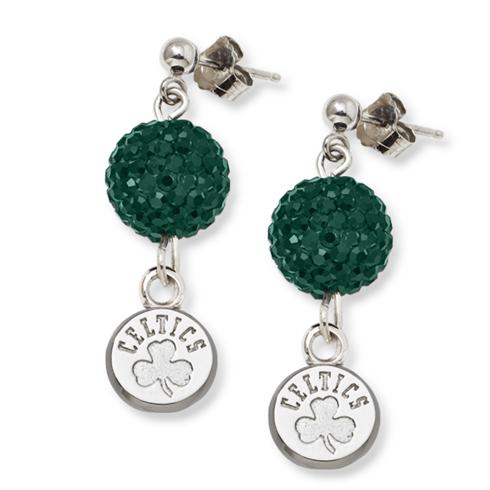 Sterling Silver Boston Celtics Ovation Earrings