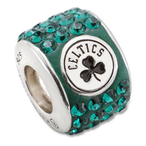 Sterling Silver Boston Celtics Premier Crystal Bead