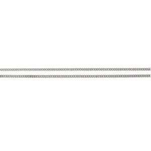 Sterling Silver 24in Continuous Flat Curb Chain 2.25mm