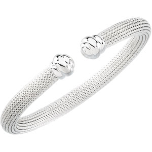 6.5mm Hollow Mesh Cuff Bracelet