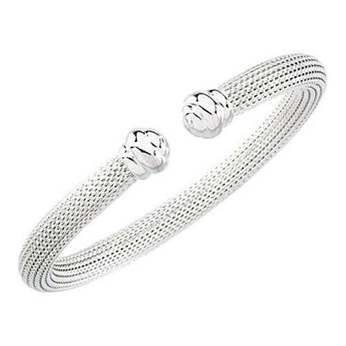 6.5mm Hollow Mesh Cuff Bracelet