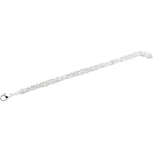 18in Sterling Silver Byzantine Chain 6mm