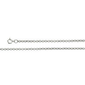 16in Sterling Silver Rolo Chain 1.25mm