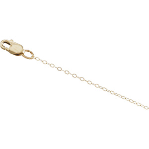 14kt Yellow Gold 16in Lasered Titan Curb Chain 1mm