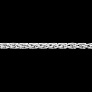 14kt White Gold 24in Diamond-cut Wheat Chain 2mm