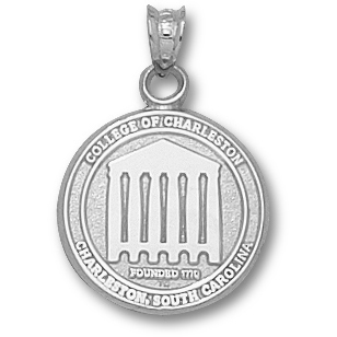 Sterling Silver 5/8in College of Charleston Seal Pendant