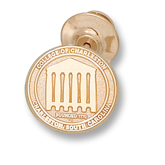 10kt Yellow Gold College of Charleston Lapel Pin