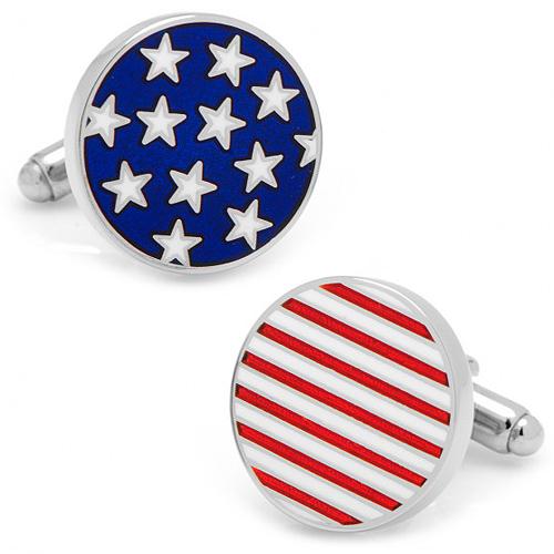 Stars and Stripes American Flag Cufflinks