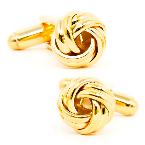 Gold Mixed Metal Knot Cufflinks