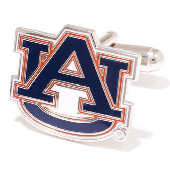 Stainless Steel Auburn Tigers Cufflinks