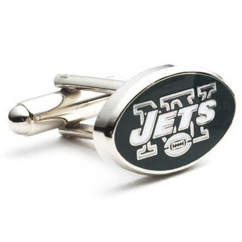 Stainless Steel New York Jets Cufflinks