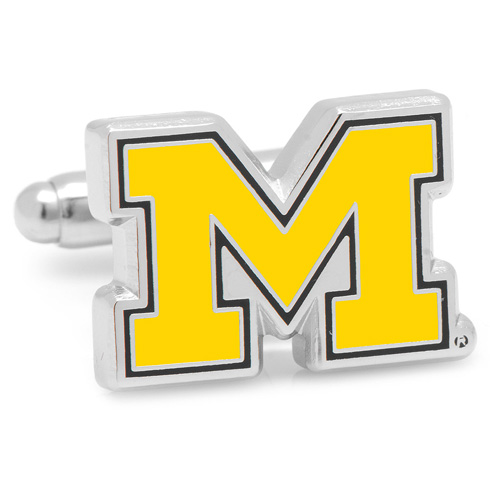 University of Michigan Block M Logo Cufflinks