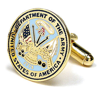 Stainless Steel US Army Seal Cufflinks