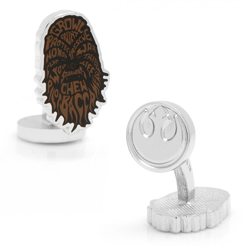 Star Wars Chewbacca Typography Cufflinks