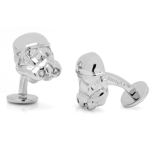 3-D Stormtrooper Head Cufflinks