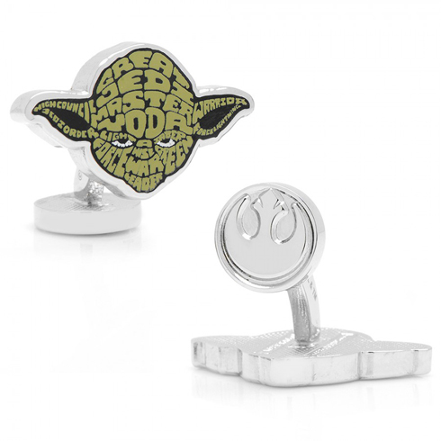 Star Wars Yoda Typography Cufflinks