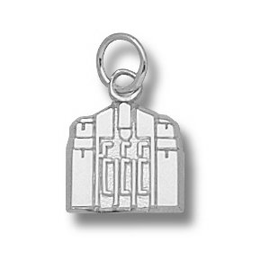 Sterling Silver 3/8in Central Michigan Warriner Tower Pendant