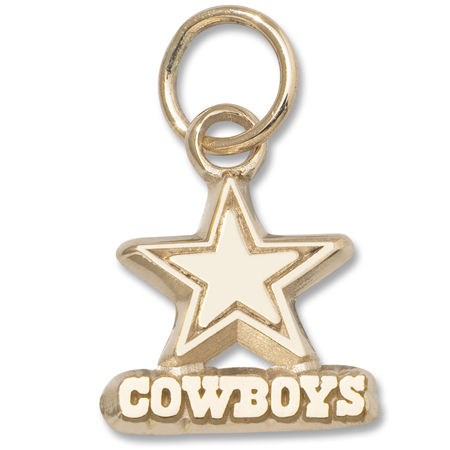 dallas cowboys 3 8in pendant 10kt yellow gold cow039 10k