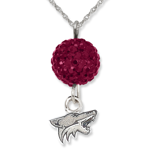 Sterling Silver Phoenix Coyotes Crystal Ovation Necklace