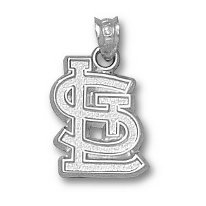 Sterling Silver 5/8in St Louis Cardinals STL Pendant