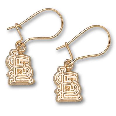 St. Louis Cardinals 3/8 Dangle Earrings 10kt Yellow Gold