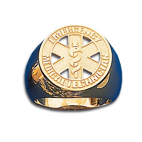EMT 10kt Gold Badge Ring