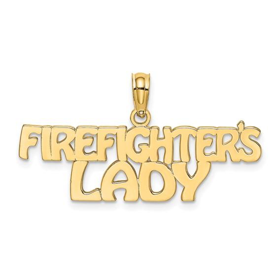 Firefighter's Lady Pendant - 14kt Gold