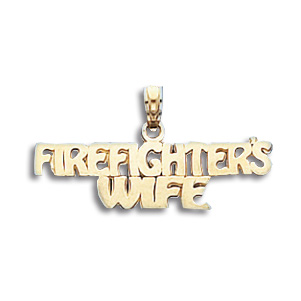 14kt Gold Firefighter's Wife Pendant