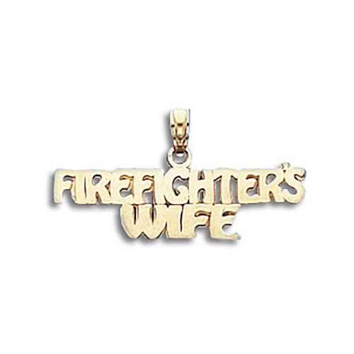 14kt Gold Firefighter's Wife Pendant