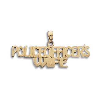 14kt Gold Police Officer's Wife Pendant