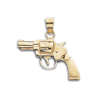 14kt yellow gold 34in revolver gun pendant crm 7009 joy jewelers 14kt yellow gold 34in revolver gun pendant aloadofball Image collections