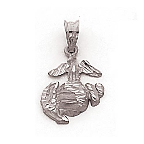 1/2in USMC Insignia Charm - Sterling Silver