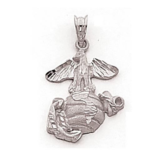 3/4in USMC Insignia Pendant - Sterling Silver