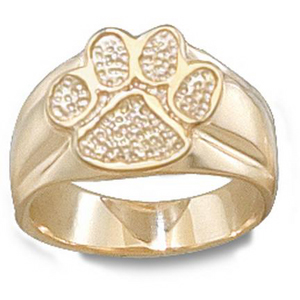 14kt Yellow Gold Ladies' Clemson University Paw Ring