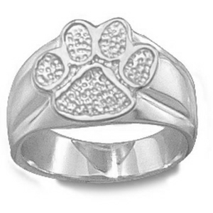 Sterling Silver Ladies' Clemson University Paw Ring