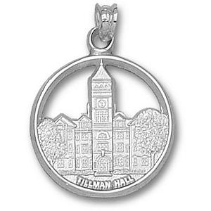 Sterling Silver 3/4in Clemson Tillman Hall Pendant