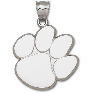 Clemson Tigers Giant Sterling Silver Paw Pendant