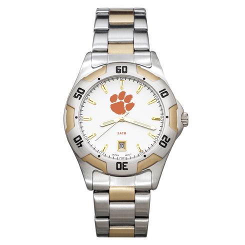 Clemson University All-Pro Men's Two-Tone Watch