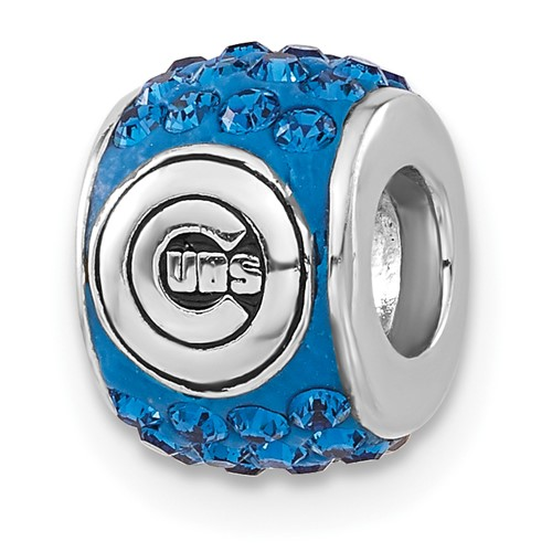 Sterling Silver Chicago Cubs Premier Bead Charm