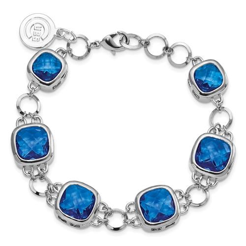8in Chicago Cubs Crystal Legend Bracelet