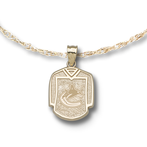 Vancouver Canucks 5/8in Jersey on Chain 10kt Yellow Gold