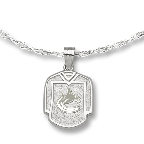 Vancouver Canucks 5/8in Jersey on Chain Sterling Silver