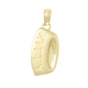 14kt Yellow Gold 20mm Cat Bowl Pendant