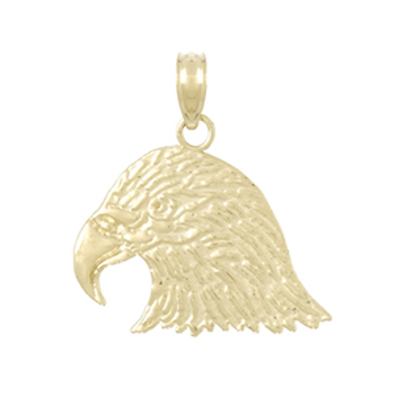 14kt Yellow Gold 19mm Eagle Head Pendant