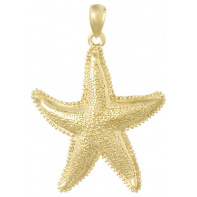 14kt Yellow Gold 1in Starfish Pendant